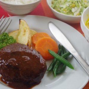 料理の基礎2コース・洋食ハンバーク