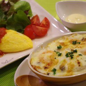 基礎1夜コース洋食(6回コース):グラタン・卵