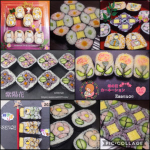 夜コース/飾り巻き寿司マンスリー倶楽部季節の行事と花・古典柄を巻く6回コース